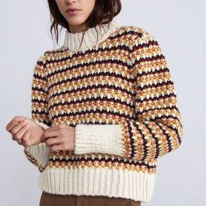 Zara puff sleeved sweater